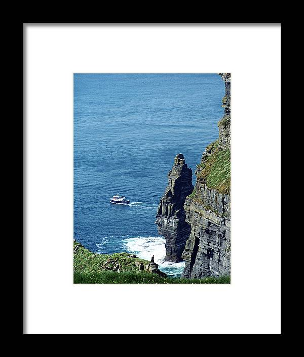 Irish Framed Print featuring the photograph The Stack And The Jack B Cliffs Of Moher Ireland by Teresa Mucha