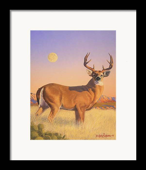 Deer Framed Print featuring the painting The Stag by Howard Dubois