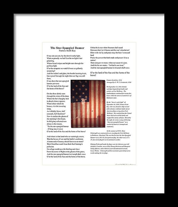 American Framed Print featuring the photograph The Star-spangled Banner by Jacob Cane