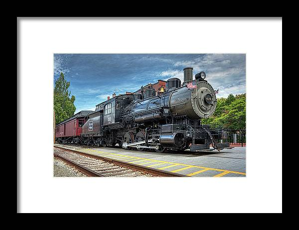 #401 Framed Print featuring the photograph The Steam Engine #401 by Lee Fortier