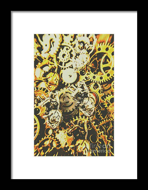 Design Framed Print featuring the photograph The Steampunk Heart Design by Jorgo Photography - Wall Art Gallery