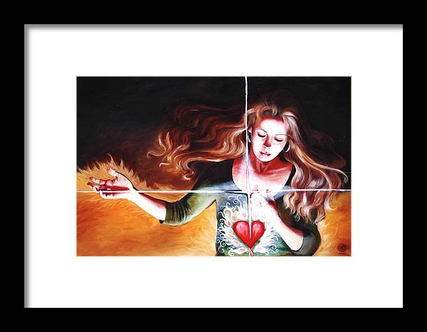 Christian Framed Print featuring the painting The Stirring by Teresa Carter