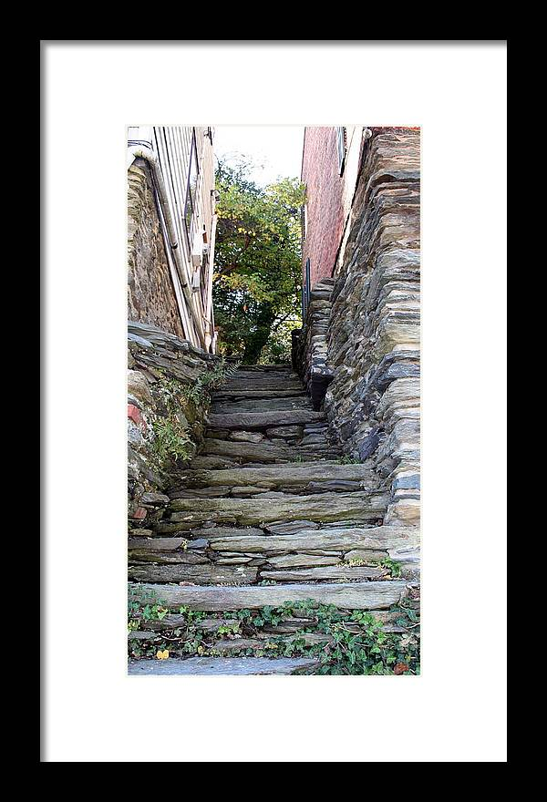Stone Framed Print featuring the photograph The Stone Stairs by Rebecca Smith