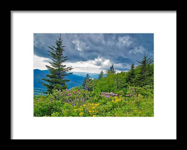 Blue Ridge Parkway Framed Print featuring the photograph The Storm by Dana Foreman