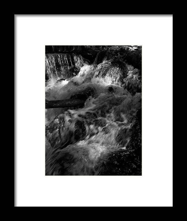 Lehtokukka Framed Print featuring the photograph The Stream In Bw by Jouko Lehto