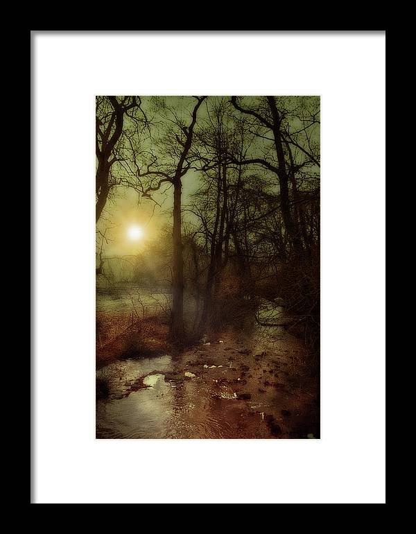 Stream Framed Print featuring the mixed media The Stream by Mark Hunter