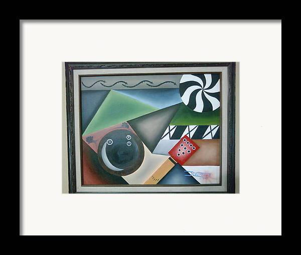 Sports Framed Print featuring the painting The Strike by Raul Vergara