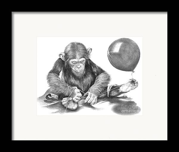 Pencil Framed Print featuring the drawing The String Theory by Murphy Elliott