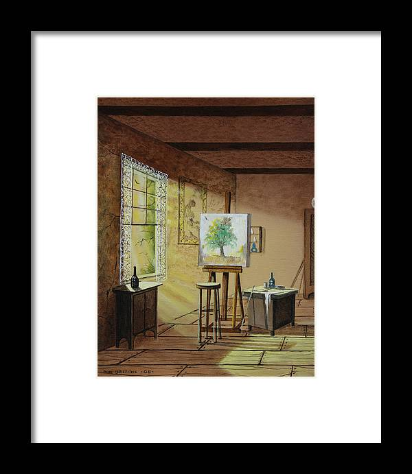 Artist Studio Framed Print featuring the painting The Studio by Don Griffiths