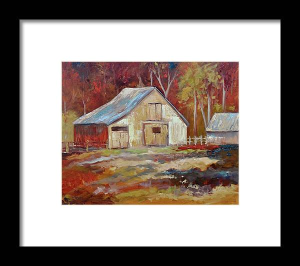 Barns Framed Print featuring the painting The Studio by Ginger Concepcion