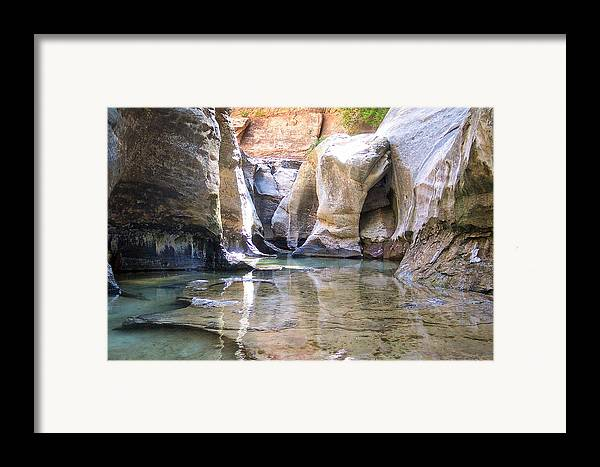Landscape Framed Print featuring the photograph The Subway by M Ryan