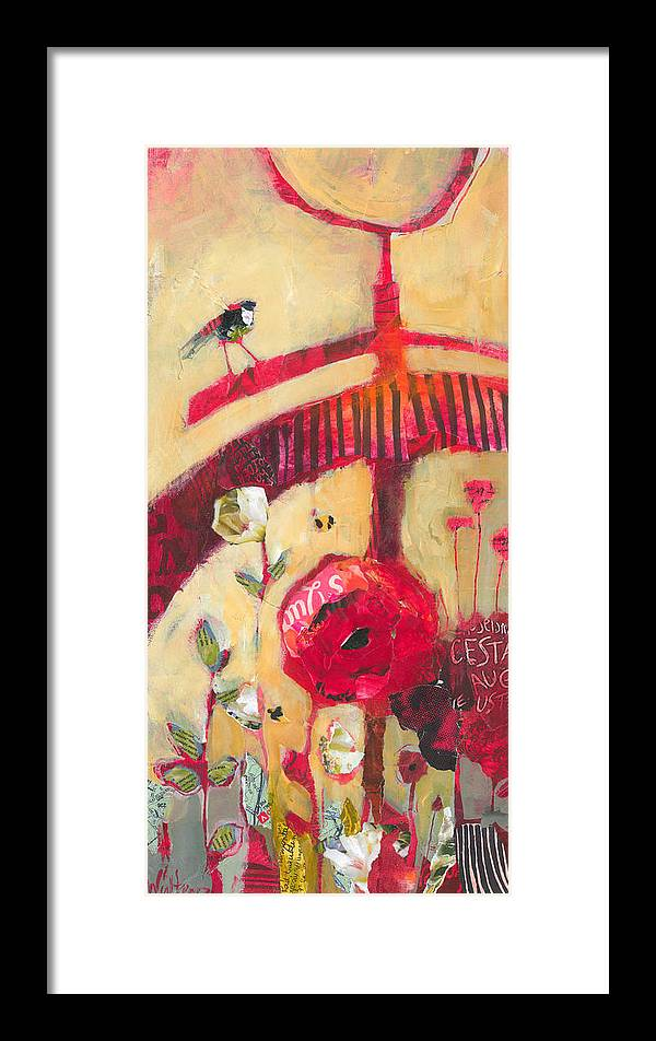 Bike Framed Print featuring the painting The Suitor by Shelli Walters