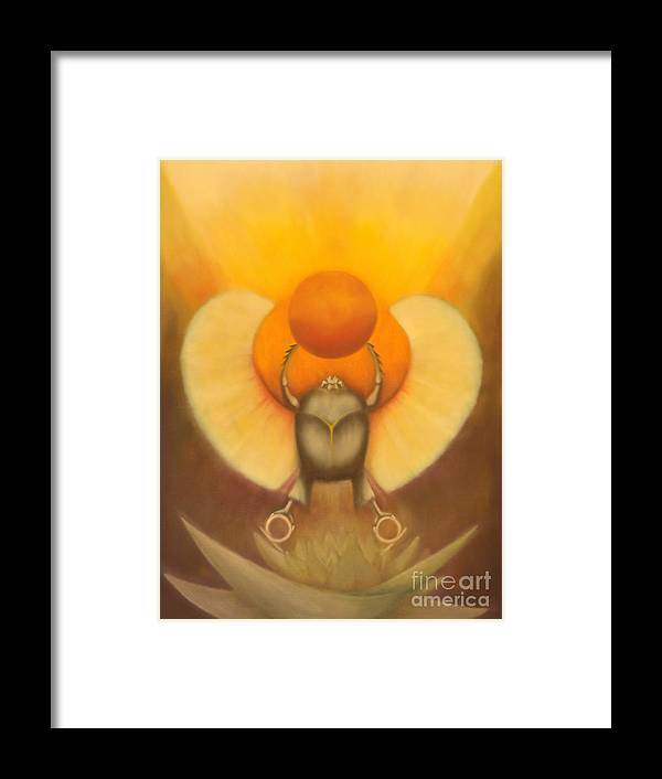 Wicca Prints Framed Print featuring the painting The Sun At Night by Roger Williamson