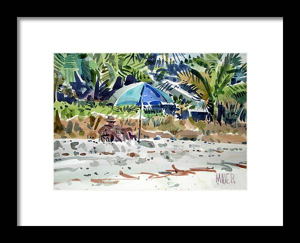 Sunbathing Framed Print featuring the painting The Sun Bather by Donald Maier