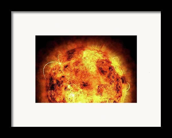 Sun Framed Print featuring the digital art The Sun by Michael Tompsett