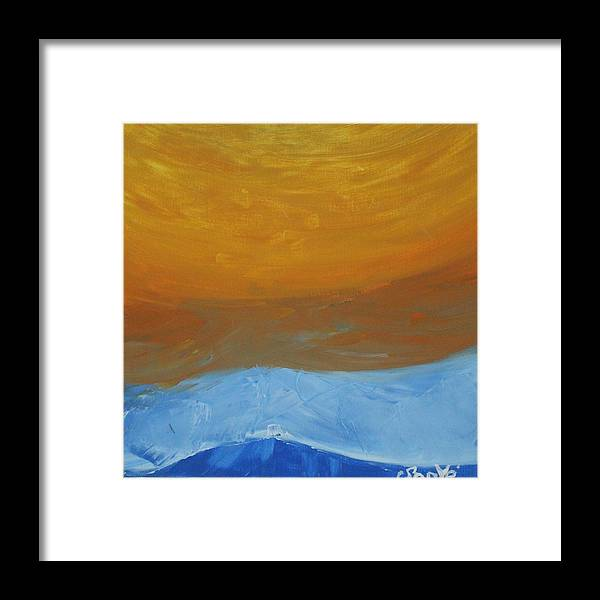 Sun Framed Print featuring the painting The Sun by Sonye Locksmith