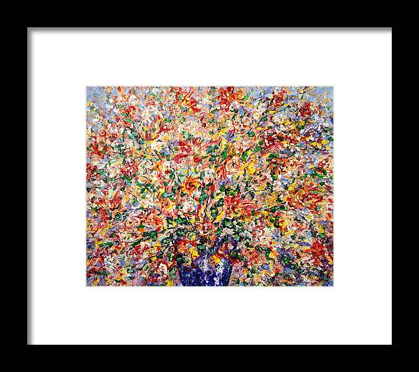 Flowers Framed Print featuring the painting The Sunlight Flowers by Leonard Holland