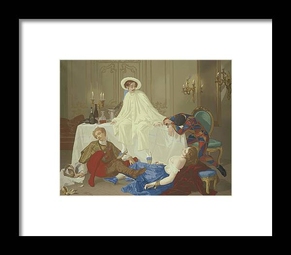 Supper Framed Print featuring the painting The Supper After The Masked Ball by Thomas Couture