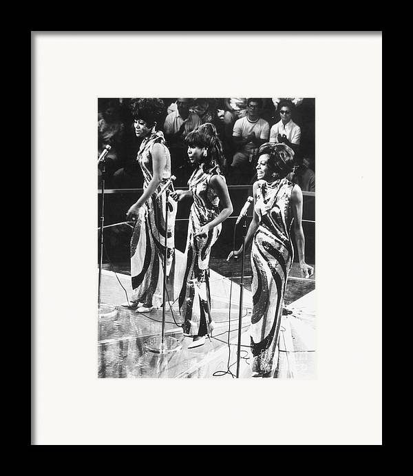 1963 Framed Print featuring the photograph The Supremes, C1963 by Granger
