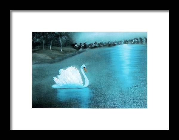 Swan Framed Print featuring the painting The Swan by Felix Turner