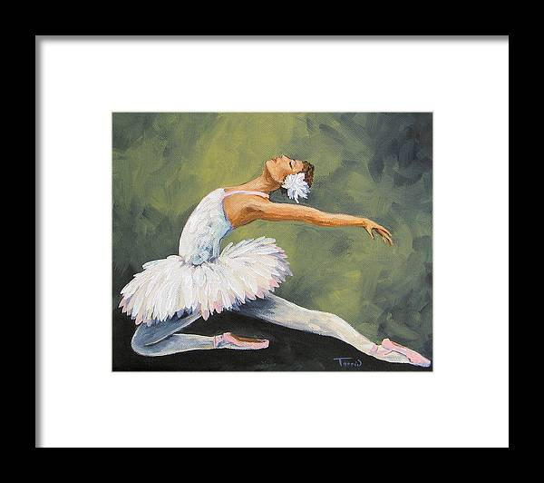Ballet Framed Print featuring the painting The Swan III by Torrie Smiley