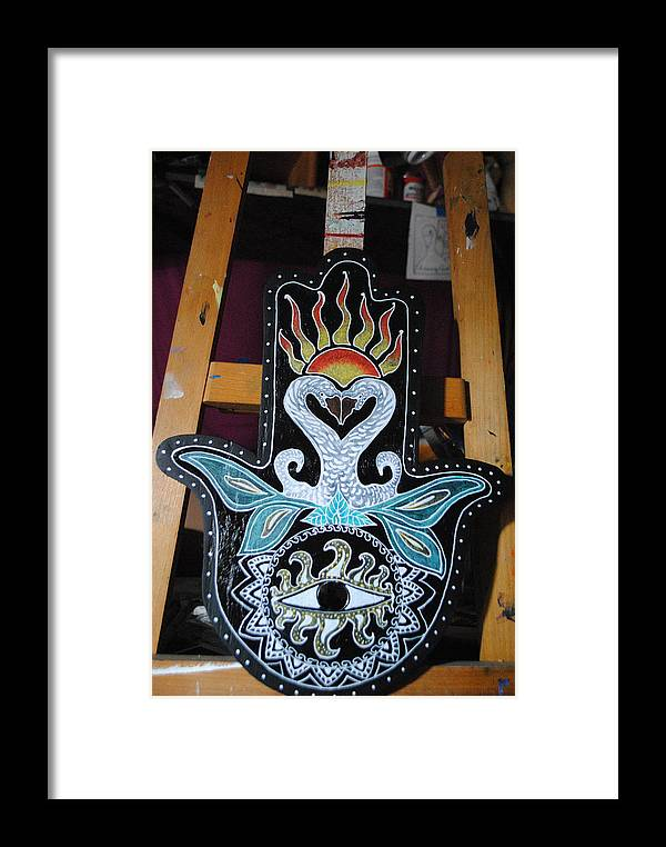 Hamsa Framed Print featuring the painting The Swan by Patricia Arroyo