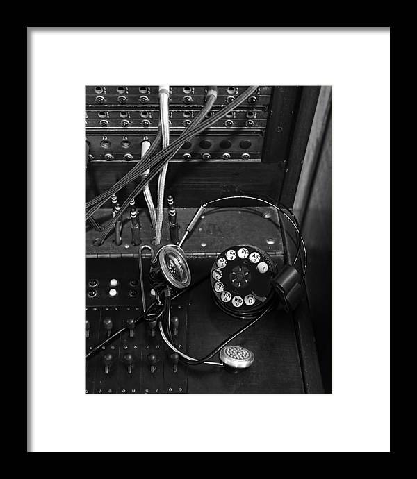 Telephone Switchboard Framed Print featuring the photograph The Switchboard by Chrystyne Novack