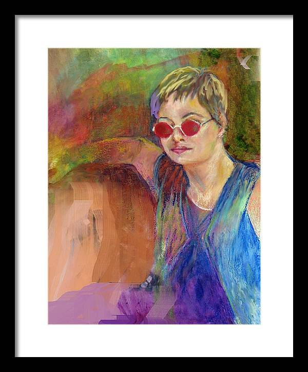 Portrait Framed Print featuring the painting The Talent by Jimmie Trotter