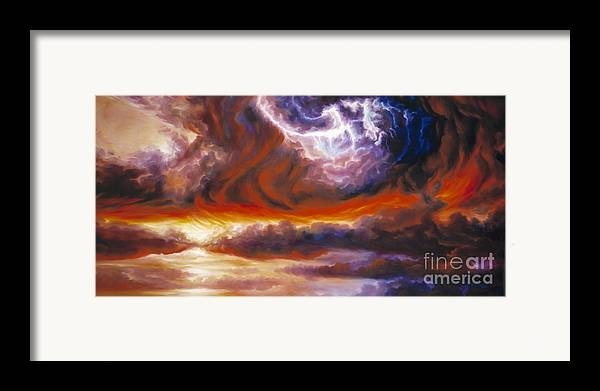 Tempest Framed Print featuring the painting The Tempest by James Christopher Hill