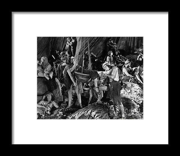 The Ten Commandments Orgy 1923 Framed Print By Sad Hill Bizarre