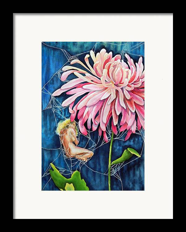 Floral Framed Print featuring the painting The Tender Trap by Gail Zavala
