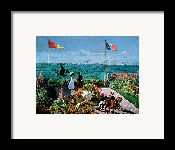 Claude Monet Framed Print featuring the painting The Terrace At Sainte Adresse by Claude Monet