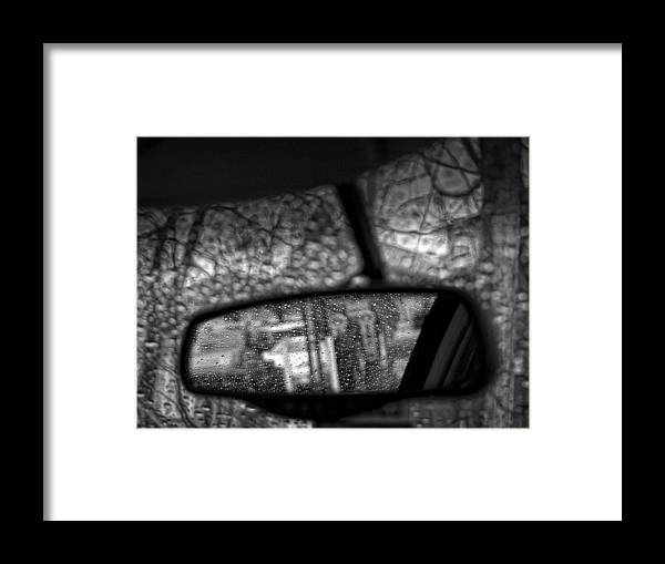 Rain Framed Print featuring the photograph The Terrors And Pleasures Of Driving by Robert Ullmann