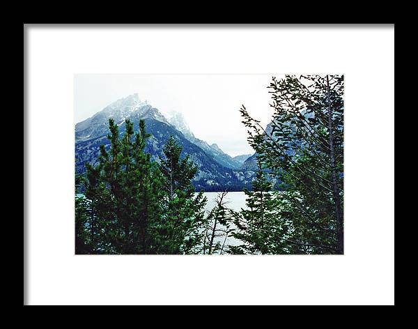 Photography Framed Print featuring the photograph The Tetons by Barbara Gerry