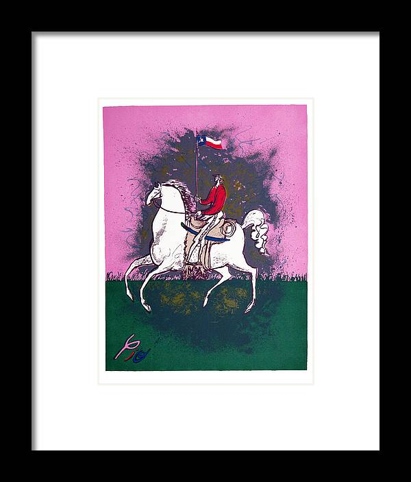 Pio Pulido Framed Print featuring the print The Texan by Pio Pulido