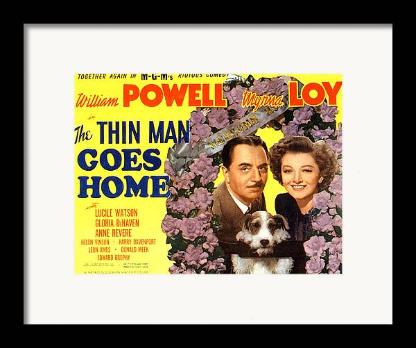 1940s Movies Framed Print featuring the photograph The Thin Man Goes Home, William Powell by Everett