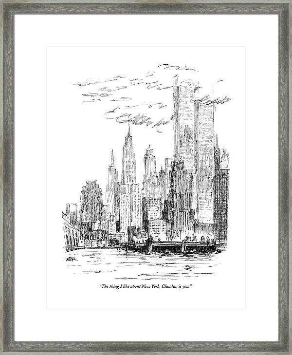 The Thing I Like About New York Framed Print by Robert Weber