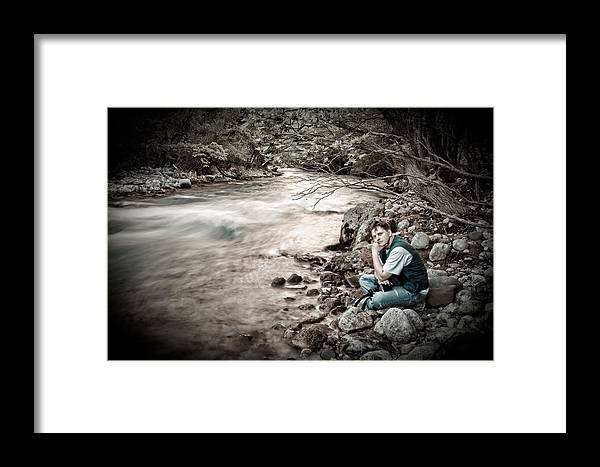 Man Framed Print featuring the photograph The Thinker by Gabriela Insuratelu