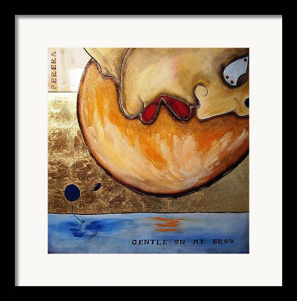 Contemporary Framed Print featuring the painting The Thinker by Maarten Perera