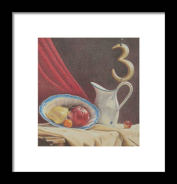 Still Life Framed Print featuring the painting The Third Element by Bonnie Haversat