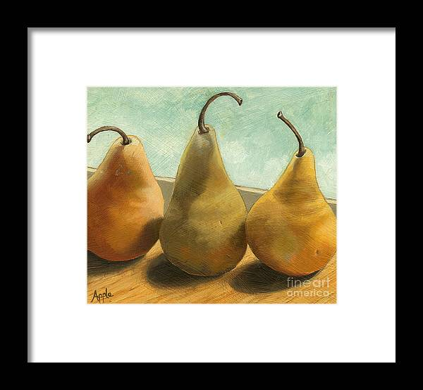 Realism Framed Print featuring the painting The Three Graces - Painting by Linda Apple