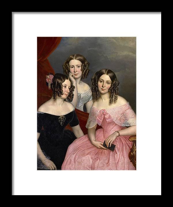 The Three Robinson Sisters Framed Print