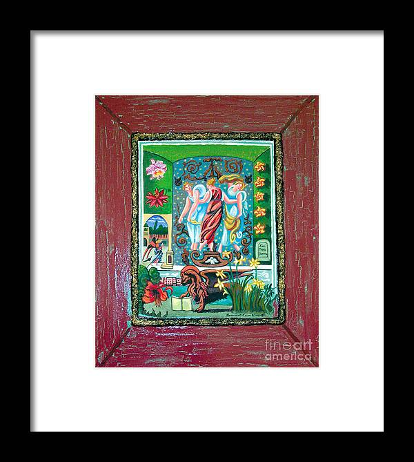 Women Framed Print featuring the painting The Three Sisters by Genevieve Esson