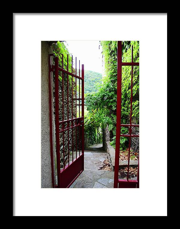 Labastide Esparbairenque Framed Print featuring the photograph The Threshold by Margaret Fronimos