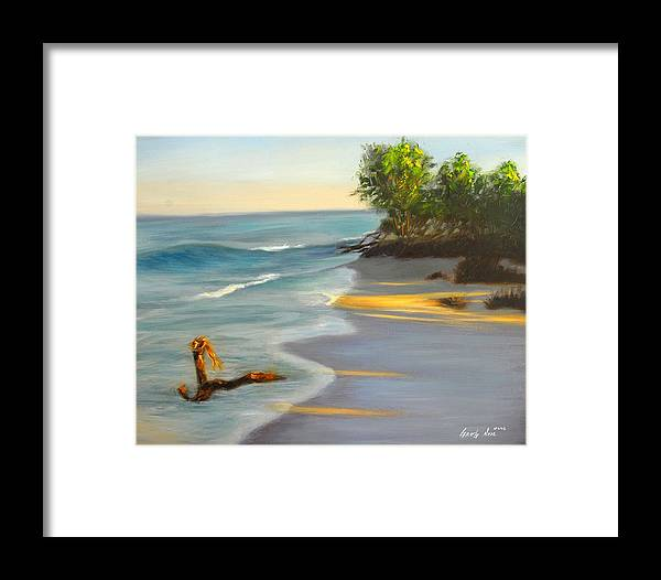 Landscape Framed Print featuring the painting The Tide Is Blocking The Way by Greg Neal