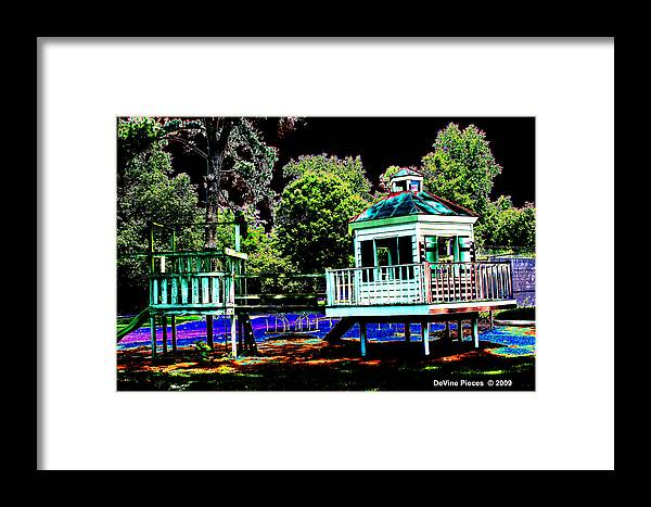The Framed Print featuring the photograph The Tides Inn Playground by Trish Jenkins