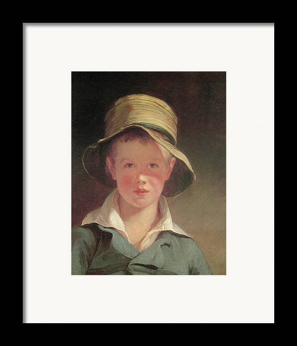 Thomas Sully Framed Print featuring the painting The Torn Hat by Thomas Sully