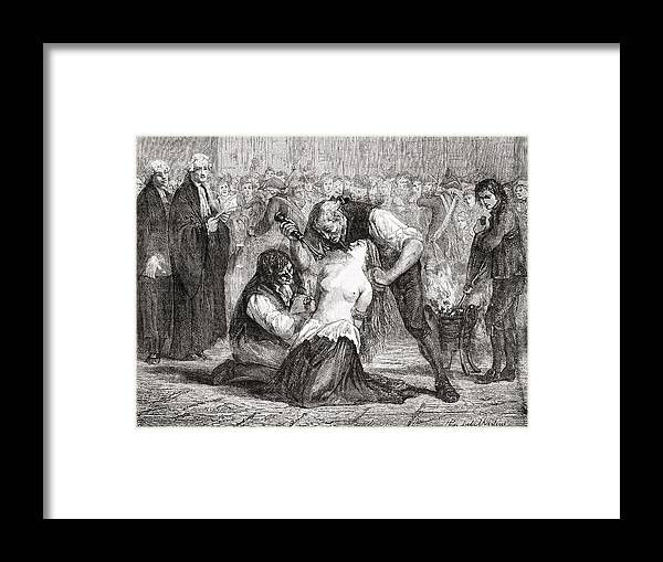 The Torture Of Madame De La Motte Framed Print By Vintage Design Pics