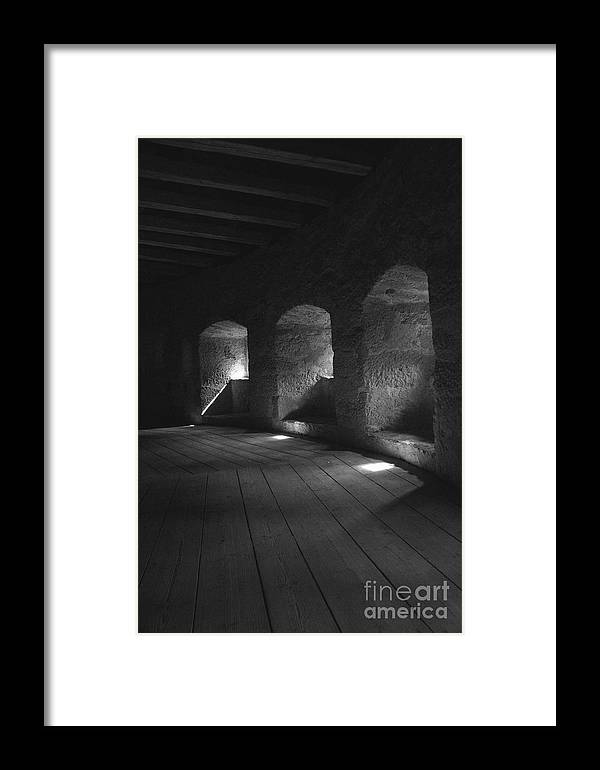 Town Wall Framed Print featuring the photograph The Town Wall In Rothenburg Germany by Hideaki Sakurai