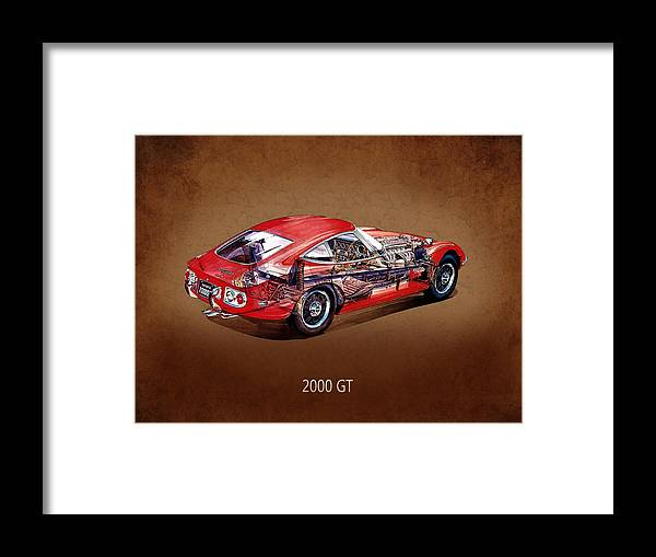 Toyota Framed Print featuring the photograph The Toyota 2000 Gt by Mark Rogan